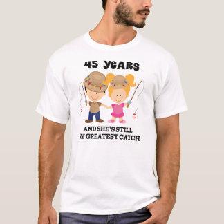 45th Wedding Anniversary Gift For Him T-Shirt