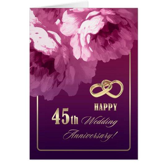 45th Wedding Anniversary Greeting Cards