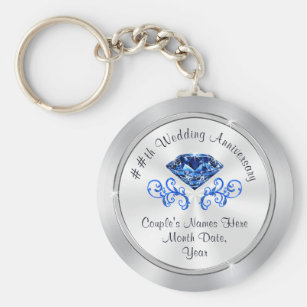 45th wedding anniversary party ideas for parents key ring