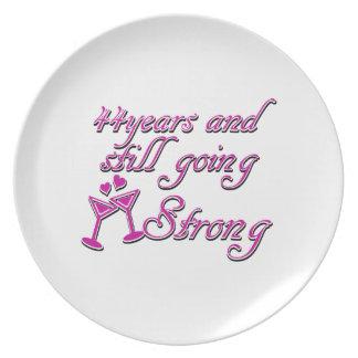 45th wedding anniversary dinner plates