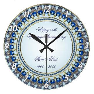 45th Wedding Anniversary Wall Clock