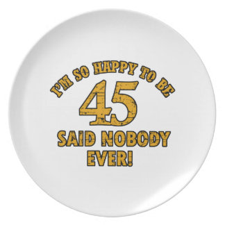 45TH year old gifts Plates
