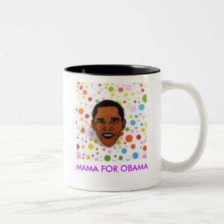 463dd9b40e1ea056, MAMA FOR OBAMA Two-Tone Mug