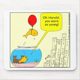 464 Suicidal Fish Cartoon Mouse Pad