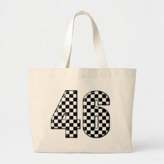 46 checkered number jumbo tote bag
