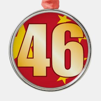 46 CHINA Gold Christmas Ornament
