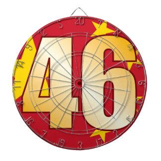46 CHINA Gold Dartboard