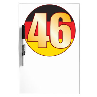 46 GERMANY Gold Dry Erase Board
