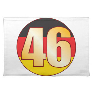 46 GERMANY Gold Placemat