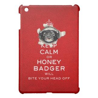 [46] Keep Calm or Honey Badger… Case For The iPad Mini