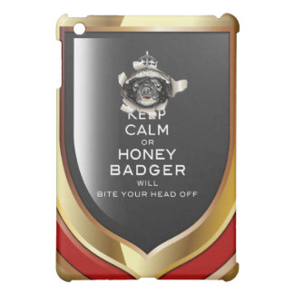 [46] Keep Calm or Honey Badger… iPad Mini Cover