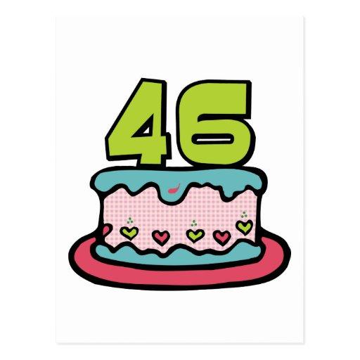 46 Year Old Birthday Cake Post Card