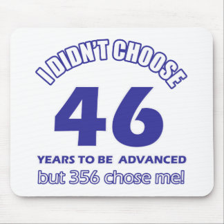 46 years advancement mouse pad