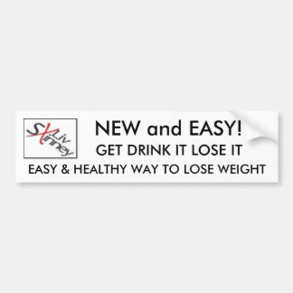 4709219, EASY & HEALTHY WAY TO LOSE WEIGHT , GE... BUMPER STICKER