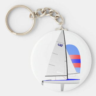 470  Racing Sailboat onedesign Olympic Class Key Ring