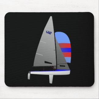 470  Racing Sailboat onedesign Olympic Class Mouse Mat