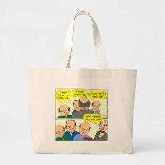 475 CUP OF TEA cartoon Tote Bags