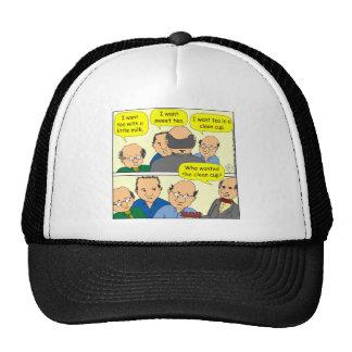 475 CUP OF TEA cartoon Cap