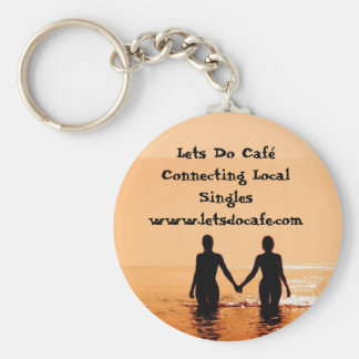 476343_low, Lets Do Caf Connecting Local Singl... Key Ring