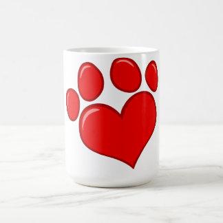 4782 RED HEART PAWS CAUSES ANIMALS LOVE CARING MOT BASIC WHITE MUG