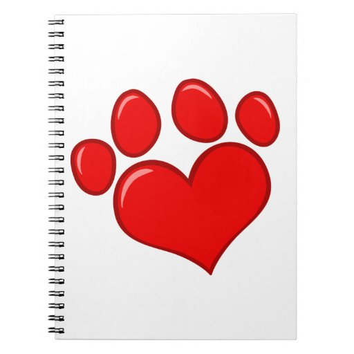 4782 RED HEART PAWS CAUSES ANIMALS LOVE CARING MOT JOURNALS