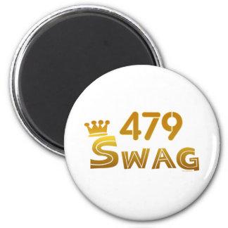 479 Arkansas Swag 6 Cm Round Magnet