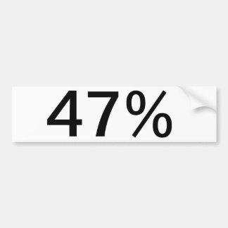 47% BUMPER STICKER
