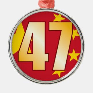 47 CHINA Gold Christmas Ornament