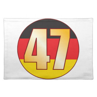 47 GERMANY Gold Placemat