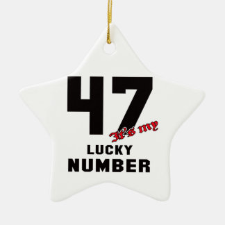 47 It's my lucky number Ceramic Star Decoration
