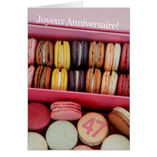 47  macarons in box.jpg greeting card
