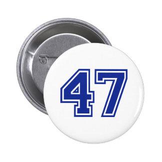 47 - number 6 cm round badge