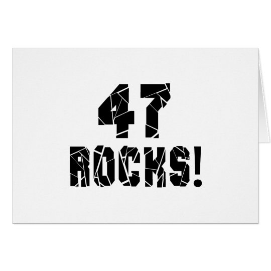 47 Rocks Birthday Designs Card