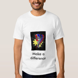 48178-three-stars-and-a-sun, Make a difference T Shirts