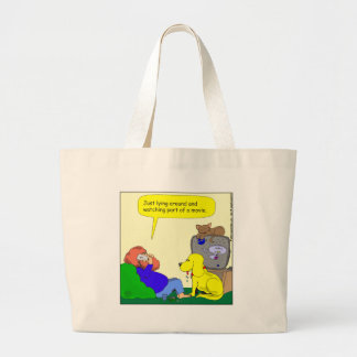 486 watching part of a movie cartoon tote bags