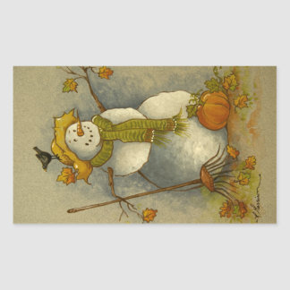 4878 Harvest Snowman Stickers