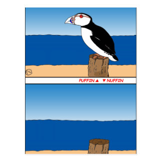 487 Puffin cartoon Postcard