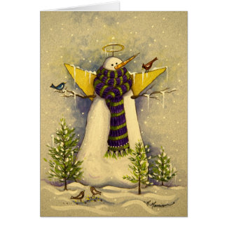 4881 Snow Angel & Birds Birthday Card