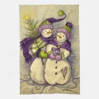 4882 Snowmen Christmas Tea Towel