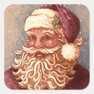 4884 Santa Claus Christmas Square Sticker