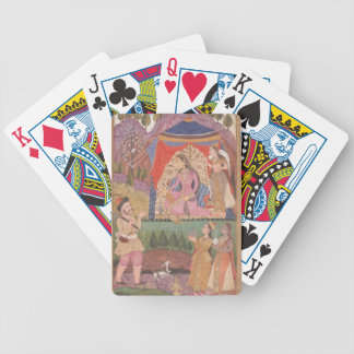 48.6/2 folio 138 Farhad recounts his adventures to Bicycle Playing Cards
