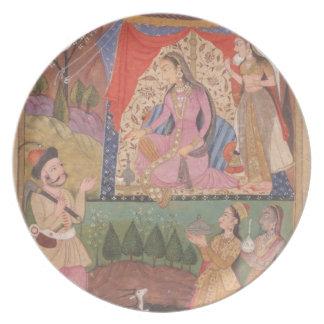 48.6/2 folio 138 Farhad recounts his adventures to Plate