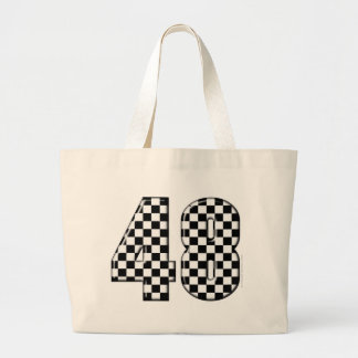 48 checkered number canvas bag