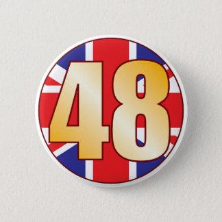 48 UK Gold 6 Cm Round Badge