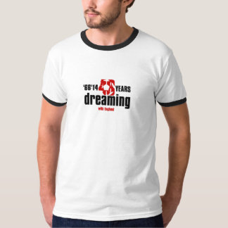 48 years of dreaming with England football shirt