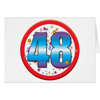 48th Birthday v2 Cards