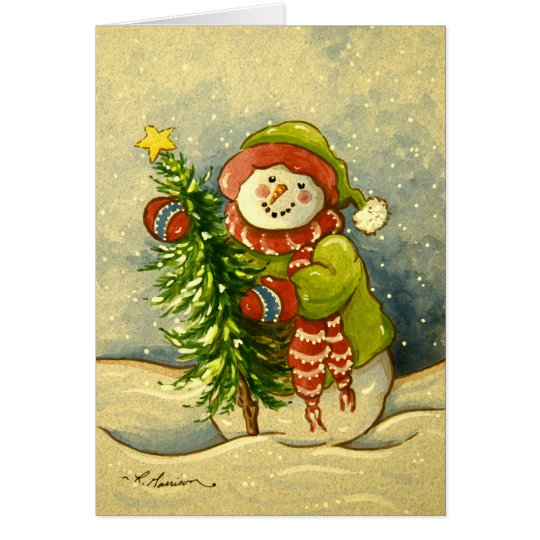 4901 Snowman Christmas Card