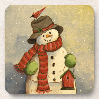 4905 Snowman & Birdhouse Christmas Coaster
