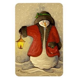 4910 Snowman & Lantern Christmas Magnet