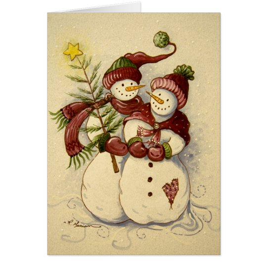 4924 Snowmen Christmas Card